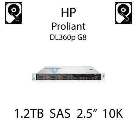 """1.2TB 2.5"""" dedykowany dysk serwerowy SAS do serwera HP ProLiant DL360p G8, HDD Enterprise 10k, 6Gbps - 718162-B21 (REF)"""