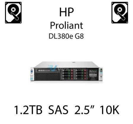 """1.2TB 2.5"""" dedykowany dysk serwerowy SAS do serwera HP ProLiant DL380e G8, HDD Enterprise 10k, 6Gbps - 718292-001 (REF)"""