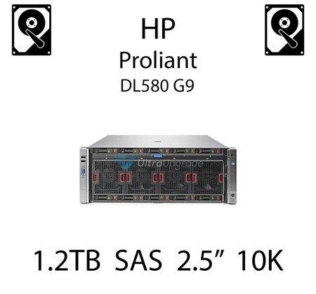 """1.2TB 2.5"""" dedykowany dysk serwerowy SAS do serwera HP Proliant DL580 G9, HDD Enterprise 10k, 6Gbps - 718292-001 (REF)"""