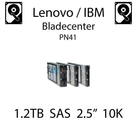 "1.2TB 2.5"" dedykowany dysk serwerowy SAS do serwera Lenovo / IBM Bladecenter PN41, HDD Enterprise 10k, 600MB/s - 00AD075"