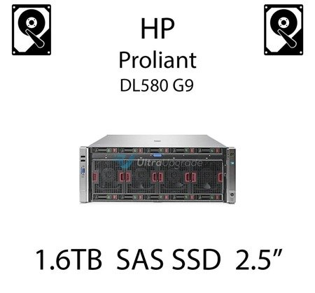 "1.6TB 2.5"" dedykowany dysk serwerowy SAS do serwera HP Proliant DL580 G9, SSD Enterprise  - 780436-001 (REF)"
