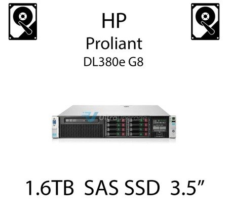 "1.6TB 3.5"" dedykowany dysk serwerowy SAS do serwera HP ProLiant DL380e G8, SSD Enterprise , 1.2GB/s - 762752-001 (REF)"
