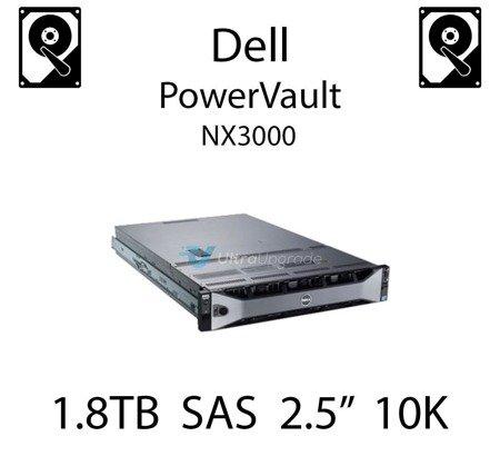 """1.8TB 2.5"""" dedykowany dysk serwerowy SAS do serwera Dell PowerVault NX3000, HDD Enterprise 10k - HWP3X"""