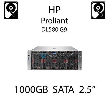 """1000GB 2.5"""" dedykowany dysk serwerowy SATA do serwera HP Proliant DL580 G9, HDD Enterprise 7.2k, 6Gbps - 655710-B21   (REF)"""