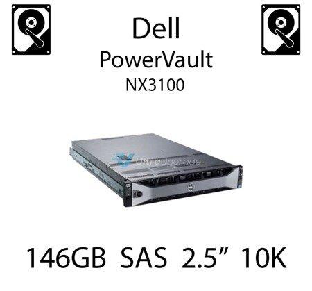 """146GB 2.5"""" dedykowany dysk serwerowy SAS do serwera Dell PowerVault NX3100, HDD Enterprise 10k, 600MB/s - X829K"""