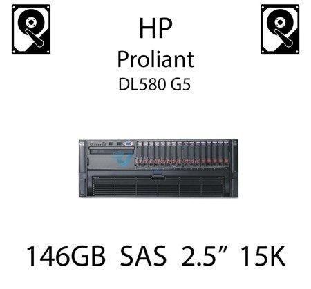 """146GB 2.5"""" dedykowany dysk serwerowy SAS do serwera HP ProLiant DL580 G5, HDD Enterprise 15k - 504334-001 (REF)"""