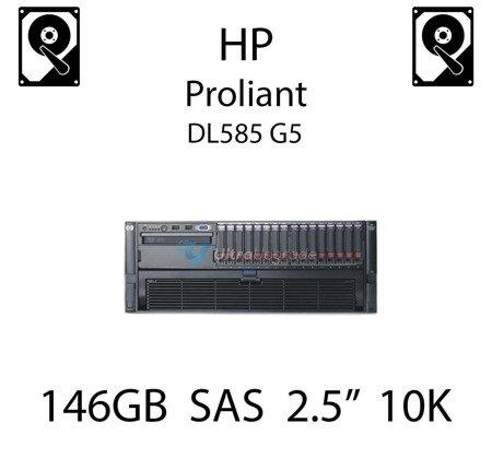 """146GB 2.5"""" dedykowany dysk serwerowy SAS do serwera HP ProLiant DL585 G5, HDD Enterprise 10k, 3072MB/s - 418399-001 (REF)"""
