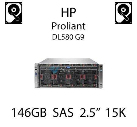 """146GB 2.5"""" dedykowany dysk serwerowy SAS do serwera HP Proliant DL580 G9, HDD Enterprise 15k - 652605-B21 (REF)"""