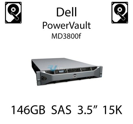 """146GB 3.5"""" dedykowany dysk serwerowy SAS do serwera Dell PowerVault MD3800f, HDD Enterprise 15k, 3072MB/s - DY635"""