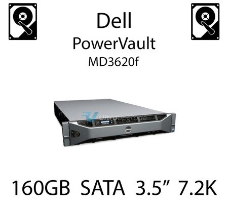 """160GB 3.5"""" dedykowany dysk serwerowy SATA do serwera Dell PowerVault MD3620f, HDD Enterprise 7.2k, 320MB/s - DC115"""