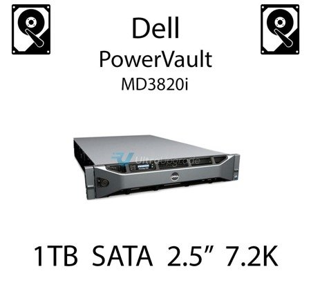 """1TB 2.5"""" dedykowany dysk serwerowy SATA do serwera Dell PowerVault MD3820i, HDD Enterprise 7.2k - WF12F"""