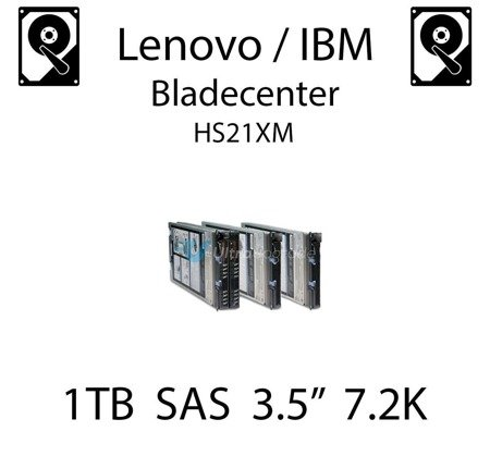 "1TB 3.5"" dedykowany dysk serwerowy SAS do serwera Lenovo / IBM Bladecenter HS21XM, HDD Enterprise 7.2k, 6GB/s - 42D0777"