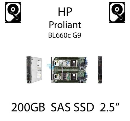 """200GB 2.5"""" dedykowany dysk serwerowy SAS do serwera HP ProLiant BL660c G9, SSD Enterprise  - 802578-B21 (REF)"""