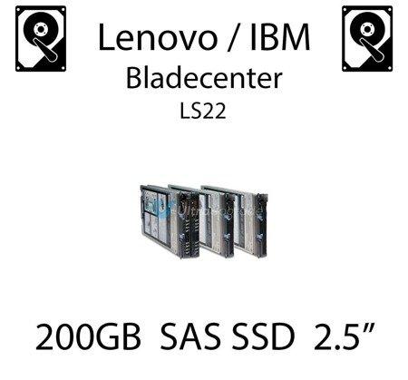 "200GB 2.5"" dedykowany dysk serwerowy SAS do serwera Lenovo / IBM Bladecenter LS22, SSD Enterprise , 600MB/s - 49Y6134 (REF)"