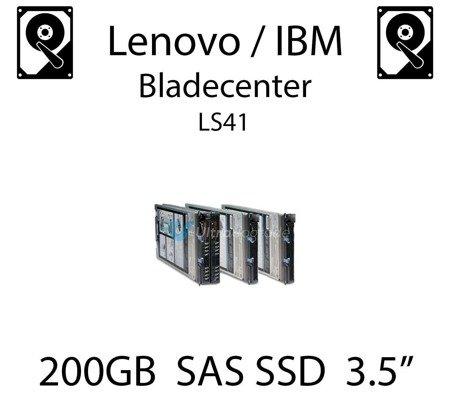 """200GB 3.5"""" dedykowany dysk serwerowy SAS do serwera Lenovo / IBM Bladecenter LS41, SSD Enterprise , 600MB/s - 00W1306"""