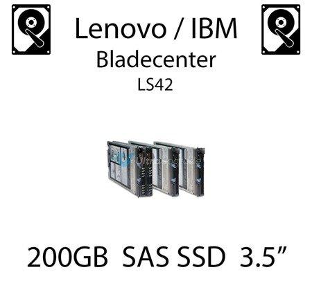 """200GB 3.5"""" dedykowany dysk serwerowy SAS do serwera Lenovo / IBM Bladecenter LS42, SSD Enterprise , 600MB/s - 00W1311"""