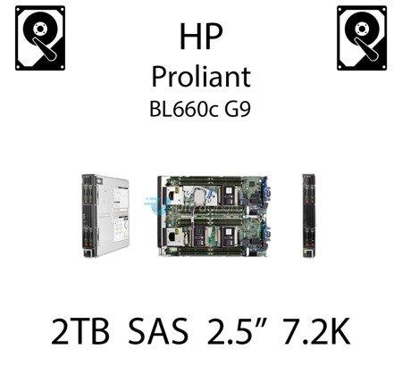 """2TB 2.5"""" dedykowany dysk serwerowy SAS do serwera HP ProLiant BL660c G9, HDD Enterprise 7.2k, 12Gbps - 765873-001 (REF)"""