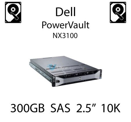 """300GB 2.5"""" dedykowany dysk serwerowy SAS do serwera Dell PowerVault NX3100, HDD Enterprise 10k - 342-2017"""