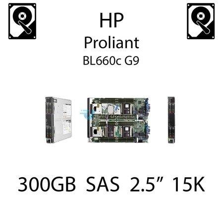 """300GB 2.5"""" dedykowany dysk serwerowy SAS do serwera HP ProLiant BL660c G9, HDD Enterprise 15k - 653960-001 (REF)"""