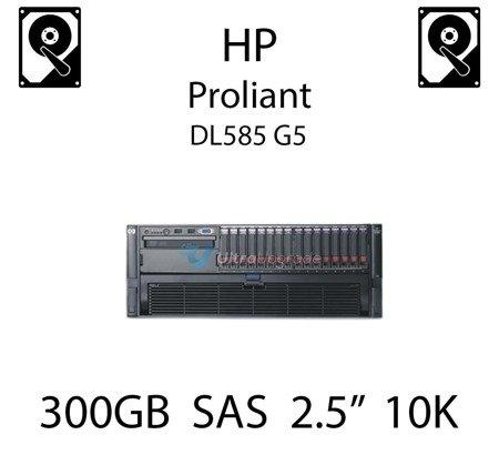 """300GB 2.5"""" dedykowany dysk serwerowy SAS do serwera HP ProLiant DL585 G5, HDD Enterprise 10k - 492620-B21 (REF)"""