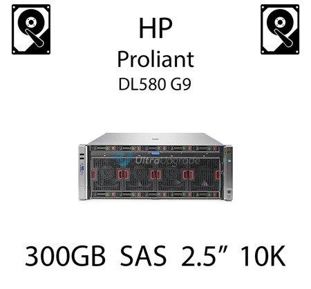 """300GB 2.5"""" dedykowany dysk serwerowy SAS do serwera HP Proliant DL580 G9, HDD Enterprise 10k, 6Gbps - 653955-001 (REF)"""