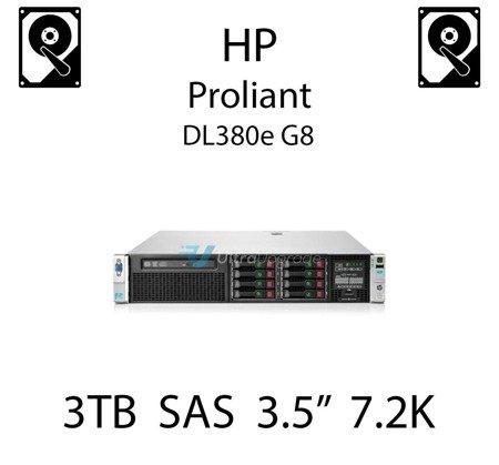 """3TB 3.5"""" dedykowany dysk serwerowy SAS do serwera HP ProLiant DL380e G8, HDD Enterprise 7.2k, 6Gbps - 653959-001 (REF)"""