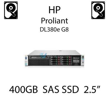 """400GB 2.5"""" dedykowany dysk serwerowy SAS do serwera HP ProLiant DL380e G8, SSD Enterprise  - 653082-B21 (REF)"""