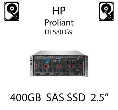 "400GB 2.5"" dedykowany dysk serwerowy SAS do serwera HP Proliant DL580 G9, SSD Enterprise  - 653962-001 (REF)"