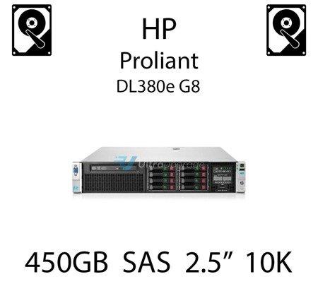 """450GB 2.5"""" dedykowany dysk serwerowy SAS do serwera HP ProLiant DL380e G8, HDD Enterprise 10k, 6Gbps - 652572-B21 (REF)"""