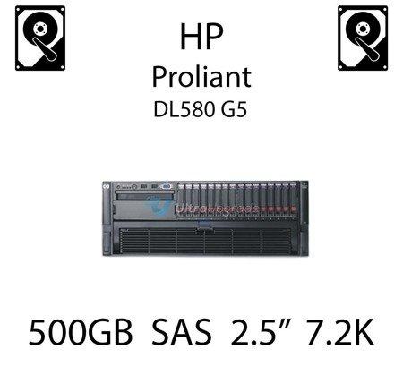 """500GB 2.5"""" dedykowany dysk serwerowy SAS do serwera HP ProLiant DL580 G5, HDD Enterprise 7.2k, 6GB/s - 508009-001 (REF)"""