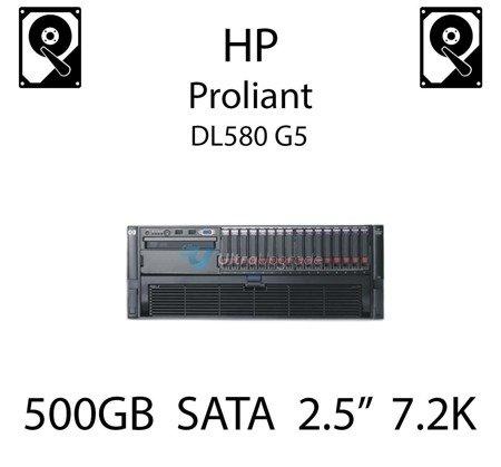 """500GB 2.5"""" dedykowany dysk serwerowy SATA do serwera HP ProLiant DL580 G5, HDD Enterprise 7.2k, 3GB/s - 507750-B21   (REF)"""