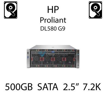 """500GB 2.5"""" dedykowany dysk serwerowy SATA do serwera HP Proliant DL580 G9, HDD Enterprise 7.2k, 6Gbps - 656107-001 (REF)"""