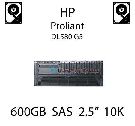 """600GB 2.5"""" dedykowany dysk serwerowy SAS do serwera HP ProLiant DL580 G5, HDD Enterprise 10k - 581311-001 (REF)"""