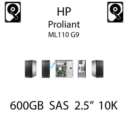 """600GB 2.5"""" dedykowany dysk serwerowy SAS do serwera HP ProLiant ML110 G9, HDD Enterprise 10k, 6Gbps - 653957-001 (REF)"""