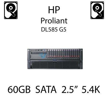 """60GB 2.5"""" dedykowany dysk serwerowy SATA do serwera HP ProLiant DL585 G5, HDD Enterprise 5.4k, 150MB/s - 382264-001 (REF)"""