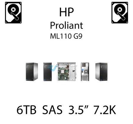 """6TB 3.5"""" dedykowany dysk serwerowy SAS do serwera HP ProLiant ML110 G9, HDD Enterprise 7.2k, 768MB/s - 765259-B21 (REF)"""