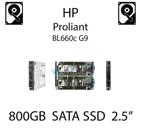 """800GB 2.5"""" dedykowany dysk serwerowy SATA do serwera HP ProLiant BL660c G9, SSD Enterprise , 6Gbps - 804625-B21 (REF)"""