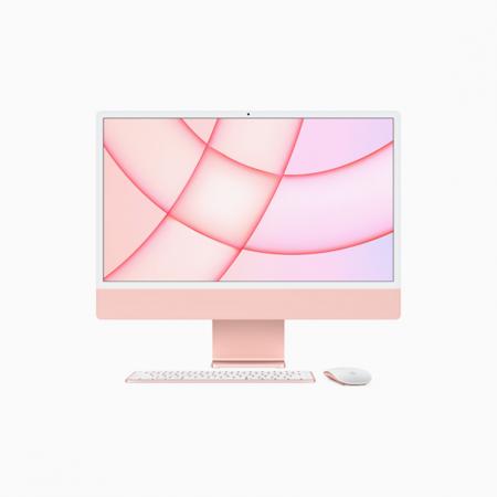 Apple iMac 24 Retina 4.5K Procesor M1 8 rdzeni 3,2GHz, GPU 8 rdzeni  SSD 256GB RAM 8GB Różowy (Pink)