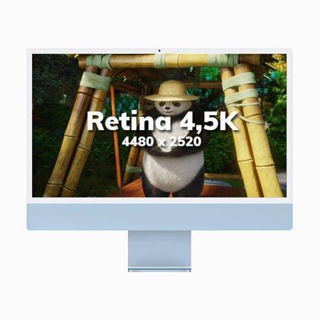 Apple iMac 24 Retina 4.5K Procesor M1 8 rdzeni 3,2GHz, GPU 8 rdzeni  SSD 256GB RAM 8GB Zielony (Green)