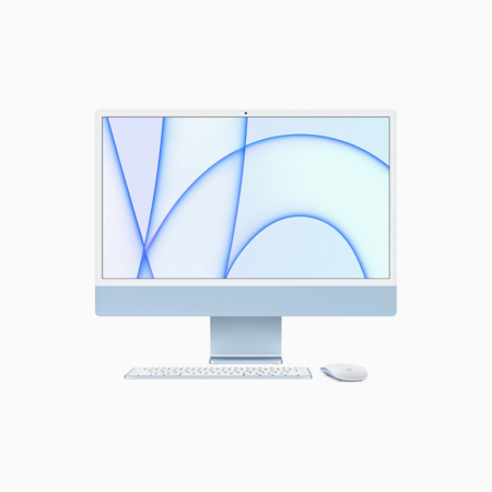 Apple iMac 24 Retina 4.5K Procesor M1 8 rdzeni 3,2GHz, GPU 8 rdzeni  SSD 512GB RAM 8GB Niebieski (Blue)