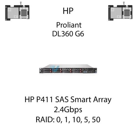 Kontroler RAID HP P411 SAS Smart Array, 2.4Gbps - 572531-B21