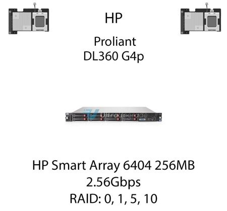 Kontroler RAID HP Smart Array 6404 256MB, 2.56Gbps - 273914-B21