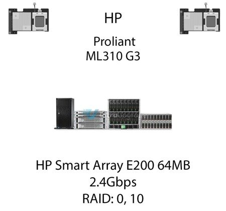 Kontroler RAID HP Smart Array E200 64MB, 2.4Gbps - 409180-B21
