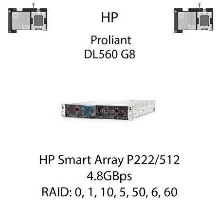 Kontroler RAID HP Smart Array P222/512, 4.8GBps - 631667-B21
