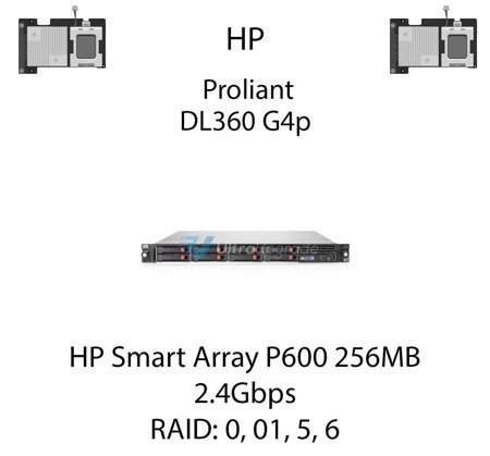 Kontroler RAID HP Smart Array P600 256MB, 2.4Gbps - 337972-B21